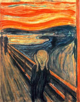 Le cri et la synesthésie, par Munch