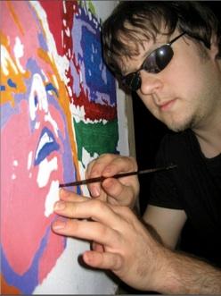 Peintre et aveugle, John Bramblitt ressent les couleurs