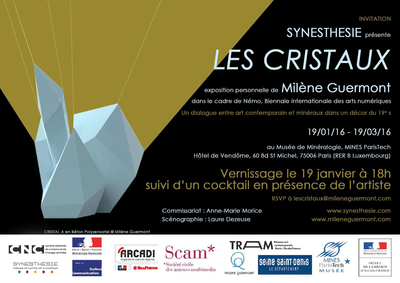 Les cristaux de Milène Guermont au Musée de Minéralogie – Synesthesie.com